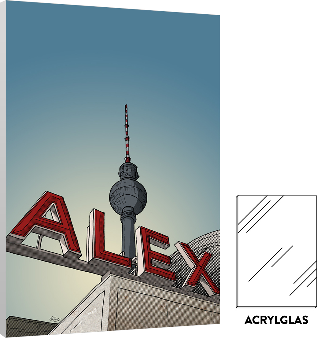 alexanderplatz acryl matthias rendl illustration shop. Black Bedroom Furniture Sets. Home Design Ideas